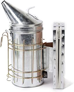 D DOLITY Bee Hive Smoker Beehives for Beekeeper Galvanized with Heat Shield, Beekeeping Tool