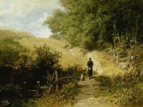 Artland Alte Meister Wandbild Carl Spitzweg Samstag-Nachmittag Leinwand Bilder 45 x 60 cm Kunstdruck Gemälde Biedermeier R1GK