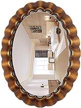 GRJ Household Its& Makeup Mirror Espelho decorativo para sala de estar, moldura oval, espelho montado na parede, estilo vi...