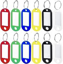 Dsaren 100 Pezzi Portachiavi Etichetta Colori Assortiti Etichette Per Bagagli Con Anello Etichette Per Chiavi In Plastica Etichette Intercambiabili 10 Colori