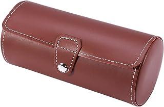 Boîte de montres, 2 couleurs, 3 grilles cylindriques pour homme et femme, fermeture en métal, étui de rangement pour rail,...