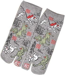 Calcetines de estilo japonés con sandalias de algodón con punta dividida Tabi Ninja Geta Calcetines de geisha para hombre, A