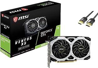 MSI GeForce GTX 1660 Ti Ventus XS Overclocked Graphics Card 6GB GDDR6 PCIe 3.0 Dual-Fan Turing Architecture TORX Fan 2.0 1...