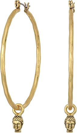 Lucky Brand - Buddha Hoop Earrings