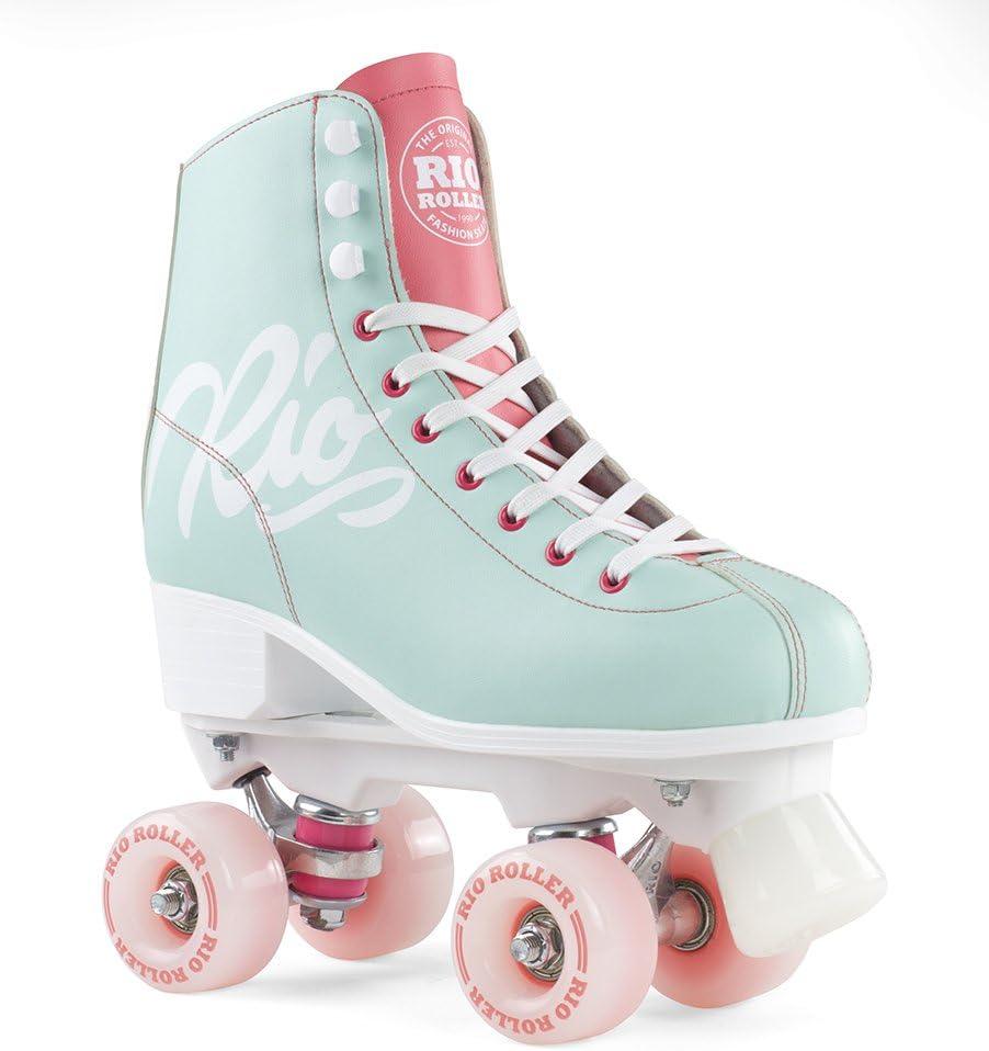 70% OFF Outlet Rio Manufacturer direct delivery Script Roller Skates Teal Coral 37
