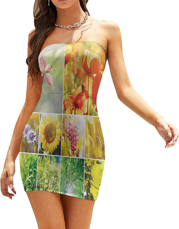 Women's Summer Strapless Dresses Cornfield and Sunny Horizon Dresses