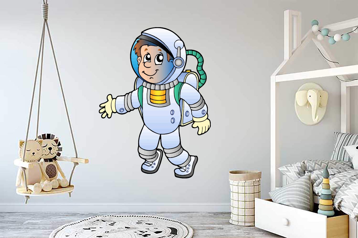 Astronaut Boy Space Kids Room Max 90% OFF Wall Vinyl Decal Max 68% OFF Car Mural Sticker