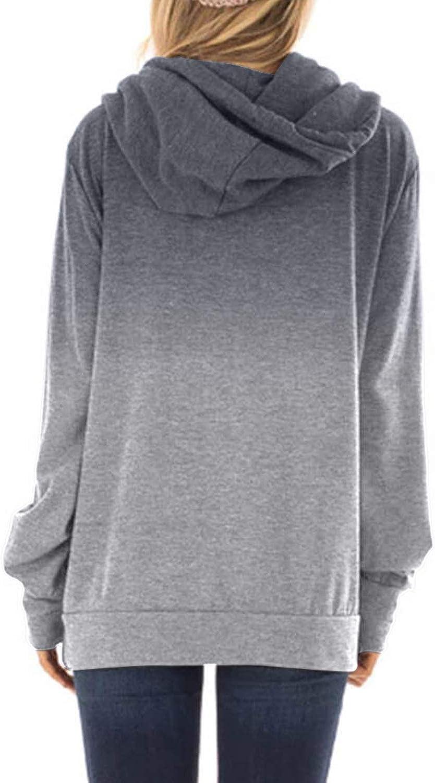 Eytino Damen-Sweatshirt, Übergröße, Fleece, lange Ärmel, Oberbekleidung (7 Farben, S-XXL) L Grau