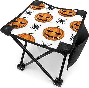 YOSULAZA Mini Camping Pumpkin Lamp of Halloween Folding Chairs, 1.6lb of Weight Fishing Chair for Outdoor Camping Walking Hun
