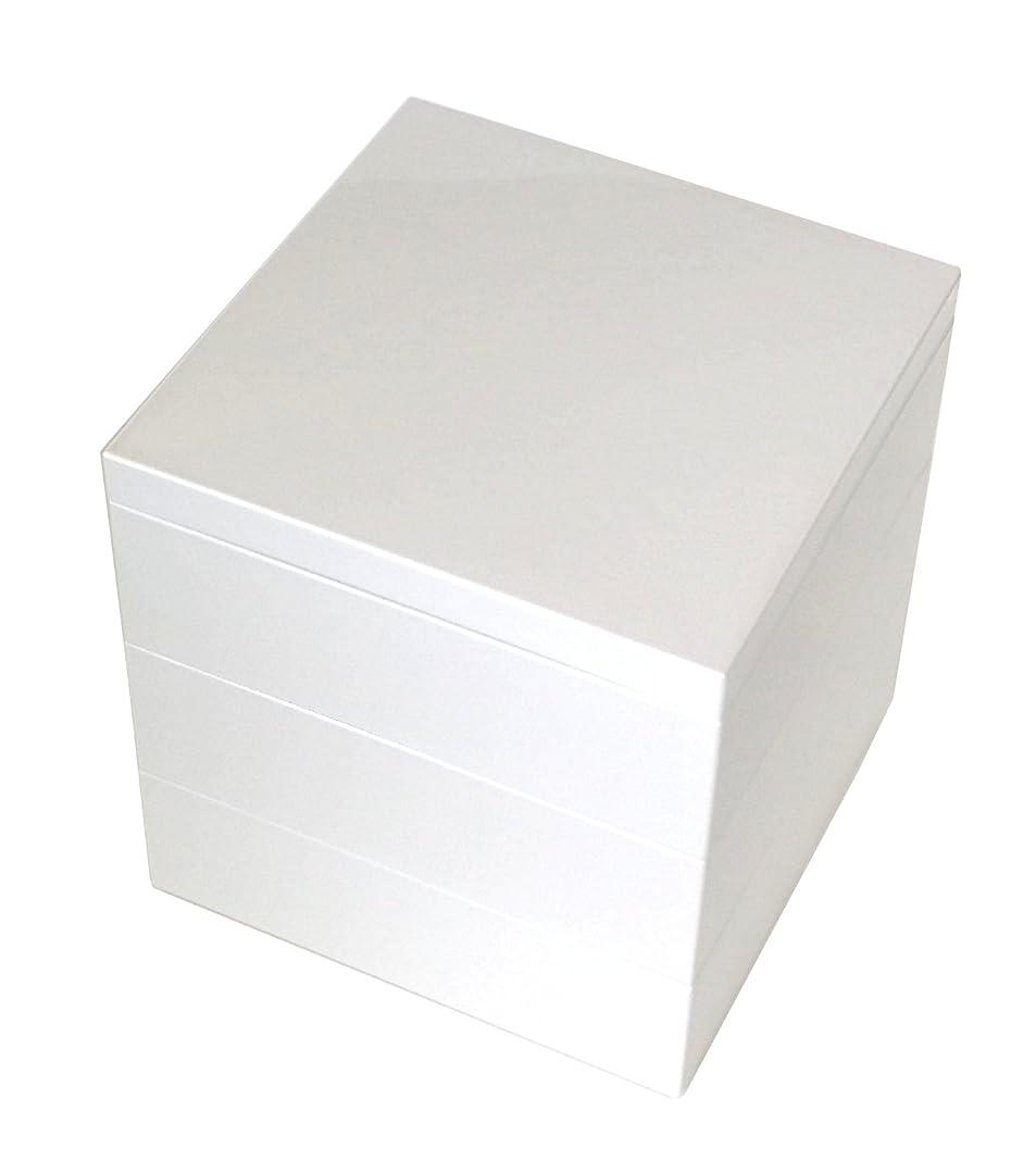 ホイッスル例外ギャロップ若泉漆器 3段重箱 5寸大和重 白パール(内白) H-156-21-A