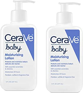 Baby Lotion | 8 Ounce | Gentle Baby Skin Care with Hyaluronic Acid | Paraben and Fragrance Free (2 Pack)