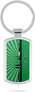 Schlüsselanhänger mit Gravur Wunschtext Name Bremen Skyline