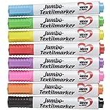 Textilstifte, verschiedene Farben, 8 Stück | Stoffmalstifte, permanente Textilmarker, waschmaschinenfest | T-Shirts, Taschen, Kissenhüllen, Textilien, Stoffe bemalen | perfekt für Kinder (5 mm)
