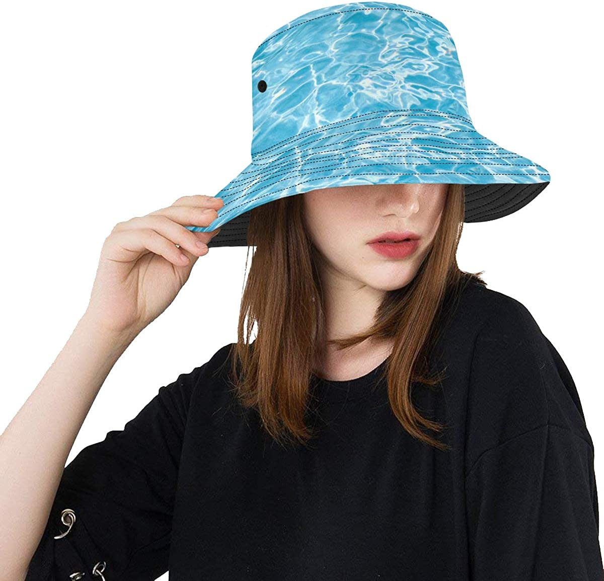 Womens Beach Hat Blue Summer Cool Water Deluxe Swimming Under Max 47% OFF Summ Pool