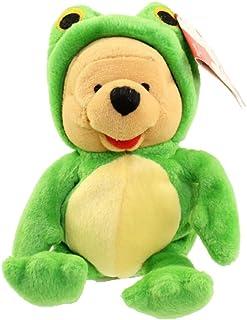 "Retired Disney Winnie the Pooh Dressed as Frog 9"" Plush Bean Bag Doll"