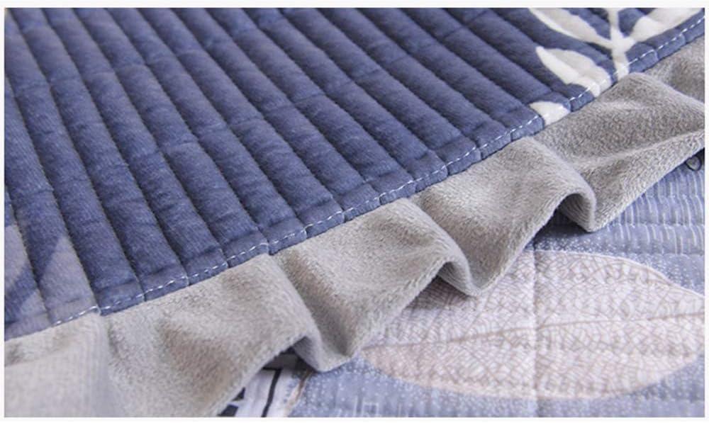 ZYZYZY Feuilles De Couvre-Lits en Velours Cristal,Antistatic Quilted Quilt Super Soft Warm Living Room Bed Sheet Sofa Blanket Throw 3pcs Antistatic Bedding Set B
