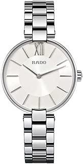 Rado Women's Coupole 32mm Steel Bracelet & Case Sapphire Crystal Quartz Silver-Tone Dial Watch R22850013