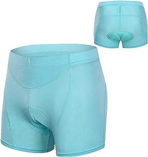 Bundle of 2, Decdeal Women Cycling Underwear 3D Padded Breathable Mesh MTB Bike Riding Biking Underwear Shorts