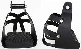 CHALLENGER Horse Western Black Endurance Safety Caged Lightweight Aluminum Stirrups 51159