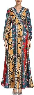 Lakhum Womne Middle Eastern Muslim Loose Robe European Women's Muslim Kaftan Dubai Islamic Abayas Open Front Cardigan Dress