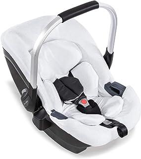 Funda de verano Hauck para silla de auto Hauck iPro Baby, funda de felpa de 2 partes, suave, transpirable, fácil de limpiar - blanco
