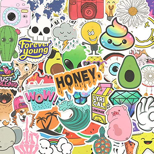Stickers for Water Bottles 50-Pack Cute,Waterproof,Aesthetic,Trendy Vinyl Stickers for Teens,Girls Perfect for Water Bottle,Laptop,Phone,Travel (Pink)