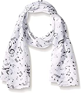 Men's Fashion Elegant Musical Note Print Chiffon Long Scarf Shawls Scarves