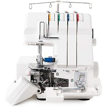 Juki MO4S Máquina de Coser Remalladora Overlock profesional 4 hilo con diferencial / Enhebrado automático + Kit 6 prensatelas: Amazon.es: Hogar