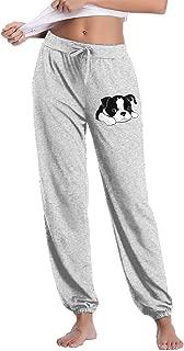 YOOJPC-6 Womens Boston Terrier Sweatpants with Pockets Active Pants