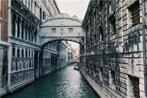 BRIDGE OF SIGHS GLOSSY POSTER PICTURE PHOTO venice italy limestone palazzo