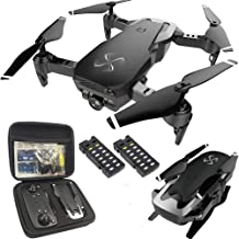 $139 » DRONE-CLONE XPERTS Drone X Pro AIR 1080P HD Dual Camera Quadcopter with Carrying Case, Follow Me, Gesture Photo/Video, Altitude Hold, RTH, FPV WiFi Live Video Feed and 2pcs Batteries Included (Black)