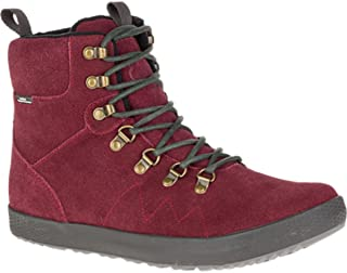 Cushe Mens Matthias Waterproof Suede Leather Lace Up Boots Side Zipper Maroon