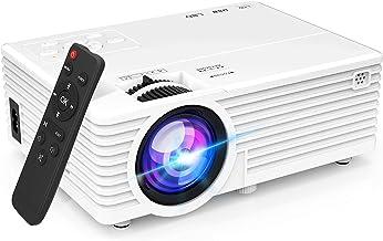 مینی ویدئو پروژکتور با روشنایی 6500 ، پشتیبانی از 1080P ، پروژکتور فیلم قابل حمل در فضای باز ، نمایشگر 176 اینچی سازگار با TV Stick ، HDMI ، USB ، VGA ، AV برای سرگرمی های خانگی