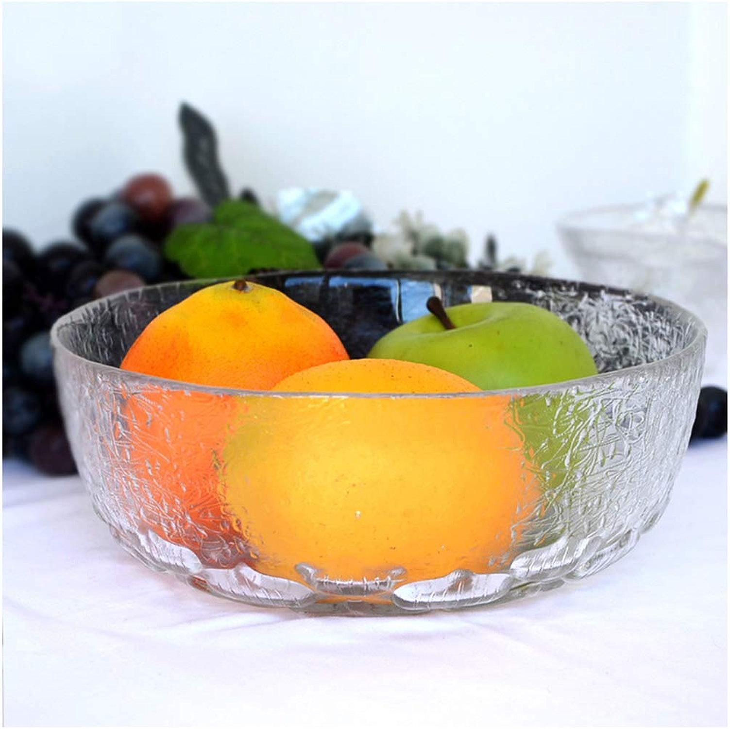 Panier à fruits Bols à fruits Ménage Porte-fruits Assiette de fruits en verre Entreposage des fruits Bac à fruits de grande taille Casiers à fruits -0