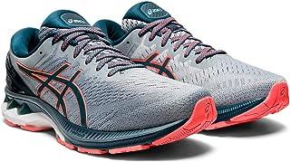ASICS Men's Gel-Kayano 27 (2E) Running Shoes, 11.5W, Sheet Rock/Magnetic Blue