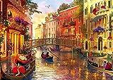 HUADADA Puzzle 1000 Teile Venice Landschaft