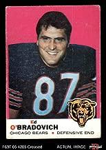 1969 Topps # 95 Ed O'Bradovich Chicago Bears (Football Card) Dean's Cards 2 - GOOD Bears