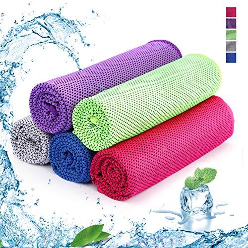 SKL Asciugamano rinfrescante Asciugamano rinfrescante Asciugamano rinfrescante Asciugamano rinfrescante Asciugamano rinfrescante in 5 Pezzi 100 x 30 cm