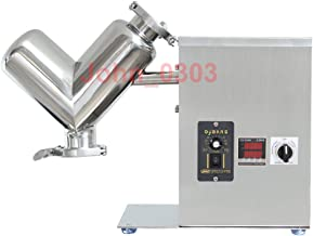 2L Lab Shear V Type Dry Powder Mixer, Mixing Machine for Powder, 304 Stainless Steel Blender Blending Machine, CE Certification