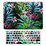 Tropical Fest Plastic Hard Shell Case&Screen Protector with Keyboard Cover for New Pro 13 Touch