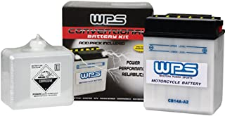 WPS Conventional 12V Standard Battery with Acid Pack 12N9-4B-1