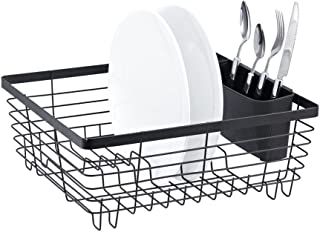 Neat-O Stylish Sturdy Oil Rubbed Bronze Metal Wire Small Dish Drainer Drying Rack