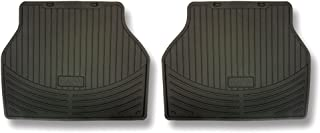BMW 1 Series (E88) rubber floor mats - Rear Black for Convertible