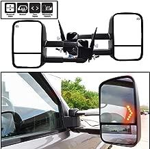 AERDM New Pair Towing mirrors Set Power Tow Heated Telescoping with Arrow Signal Light Side Mirrors Fit Chevy/GMC/Cadillac Silverado Sierra Avalanche Suburban Tahoe Yukon XL Escalade EXT ESV