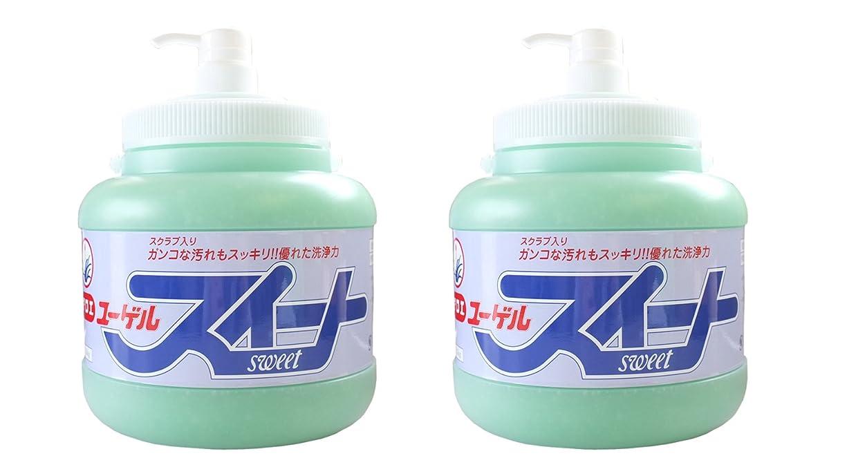 二次保存判読できない手の汚れや臭いを水なしで素早く落とす新洗剤。スクラブでガンコな油汚れもサッと落とす!ユーゲルスイート[ポンプ式]2.5kg×2本
