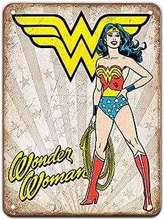 KUSTOM FACTORY - Poster in metallo Wonder Woman, 20 x 30 cm