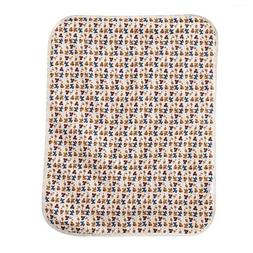 Verschoningsmatje voor kinderen, 60x80cm Katoenen aankleedkussen Geurloos voor wieg voor kinderwagen(Coffee puppy)