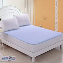 Rite Clique Paper Waterproof Double Bed Mattress Protector Sheet with Elastic Straps (Sky Blue)