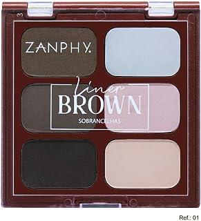 Paleta Para Sobrancelhas - Liner Brown Cor 1, Zanphy