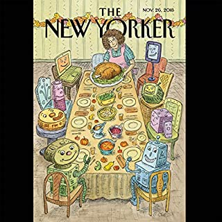 The New Yorker, November 26th 2018 (Patricia Marx, Raffi Khatchadourian, Jeffrey Toobin) cover art